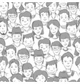 people crowd with many faces human heads vector image vector image