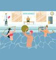 people doing water aerobics aqua exercising vector image vector image
