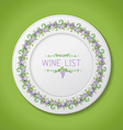Plate with grapes isolated on green background vector image vector image