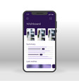 purple wishboard ui ux gui screen for mobile apps vector image vector image