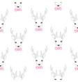 seamless deer pattern vector image vector image