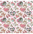 Seamless pattern with colorful vintage pastel pink vector image