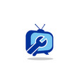 service tv station logo vector image vector image