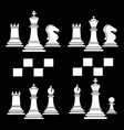 set chess club play icon white vector image vector image