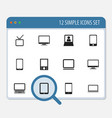 set of 12 editable devices icons includes symbols vector image