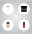 set of cosmetics realistic symbols with fashion vector image vector image