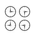 set of time clocks icons vector image vector image