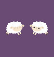 sheep lamb icon set cloud shape jumping animal vector image