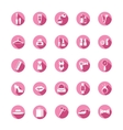 Shopping pink icons vector image vector image