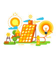 solar battery for lighting and energy design vector image vector image