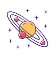 solar system color icon celestial bodies orbiting