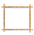square brown wooden border made of realistic vector image