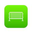 steel barrier icon digital green vector image vector image