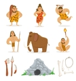 Stone Age Tribe People And Related Objects vector image vector image