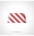 Striped road block flat color icon vector image