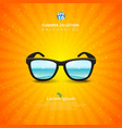 sunglass with seascape summer background vector image