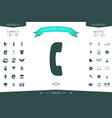 telephone handset telephone receiver symbol icon vector image
