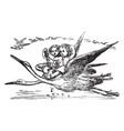 thumbelina vintage vector image vector image