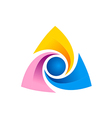 triangle circle technology logo vector image vector image