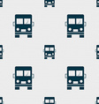 Truck icon sign Seamless pattern with geometric vector image vector image