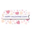 valentine pastel hearts vector image