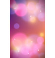 vertical background with bokeh lights vector image