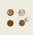 volleyball balls color set vector image
