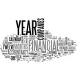 what is fiscal year text word cloud concept vector image vector image