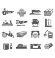 woodworking industry bold black silhouette icons vector image vector image