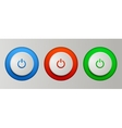 Power buttons set vector image