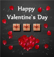 Valentines card White gift box with ribbon bow vector image