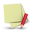 yellow paper sticker vector image