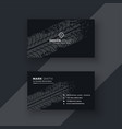 abstract dark business card with tire mark vector image vector image