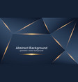 abstract luxurious modern polygonal backgrounds vector image