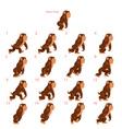 Animation of gorilla walking vector image vector image