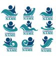 aquapark logo vector image