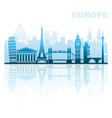 architectural sights of europe vector image vector image
