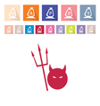 Assorted of 16 Happy Halloween Flat Icons vector image