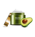 avocado cream realistic product placement vector image vector image