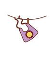 baby girl bib shower clothes cute icon vector image vector image