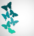 background with a border of butterflies flying vector image vector image