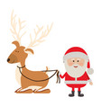 background with caricatures of reindeer holding by vector image vector image