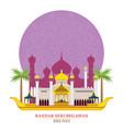 bandar seri begawan brunei with decoration vector image vector image