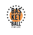 basketball it my basketball star background vector image vector image