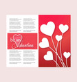 be my valentines card vector image vector image
