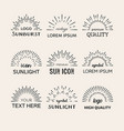 black sunburst logo design elements set vector image