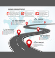 business road map strategy timeline vector image vector image