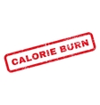 Calorie Burn Text Rubber Stamp vector image vector image