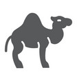 camel glyph icon arab and animal mammal sign vector image vector image