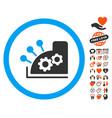 cash register icon with love bonus vector image